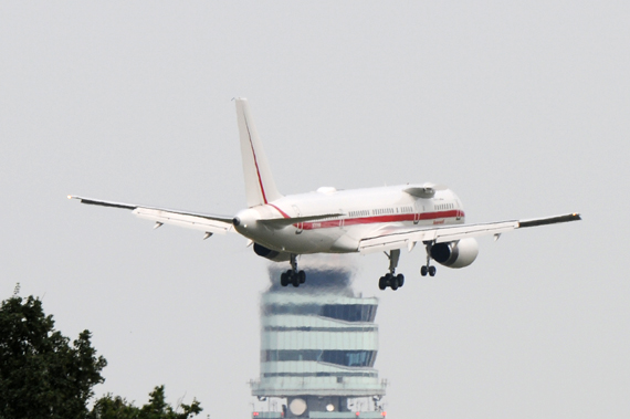 Honeywell Flight Test Boeing 757-200 N757HW am Flughafen Wien - Foto: Austrian Wings Media Crew