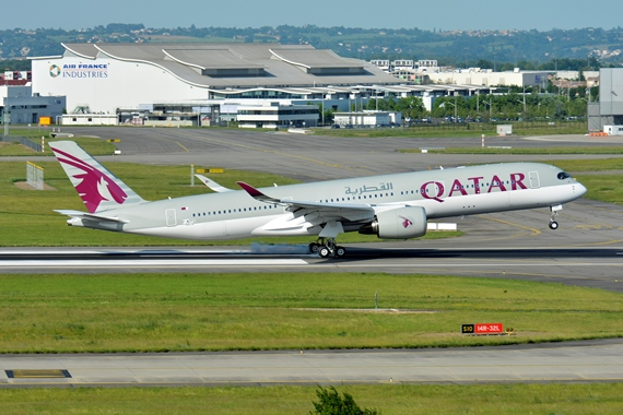 34. Copyright by Paul Bannwath Qatar Airways Airbus A350
