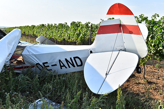 Starfighter Absturz Crash Weiden am See Piper PA-18 Super Cub OE-AND Huber Austrian Wings Media Crew