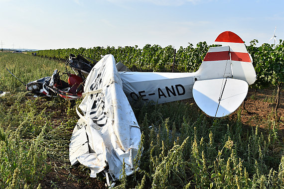 Starfighter Absturz Crash Weiden am See Piper PA-18 Super Cub OE-AND Huber Austrian Wings Media Crew_1