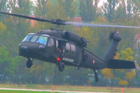Bundesheer Blackhawk Start aus Langenlebarn - Foto: V-I-P.tv
