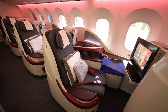 Business Class im Dreamliner von Qatar