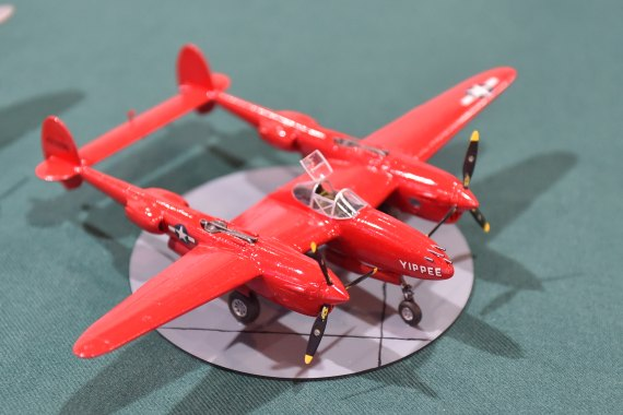 Modellbaumesse 2015 Foto Huber Austrian Wings Media Crew IPMS Austria Rote P-38 Lightning