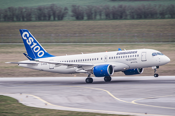 CS100 ERstlandung Wien Bombardier CSeries Start Thomas Ranner
