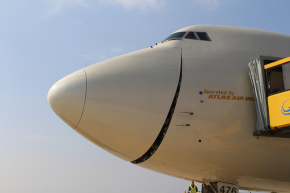 Fotoreportage 747 Etihad in Graz Anlieferung Flugzeuge Red Bull Air Race operated by Atlas Air Foto Christof Rainer