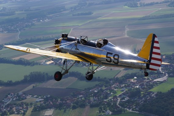 Igo Etrich Treffen Krems 2016 Air2Air AirtoAir Air to Air Ryan PT-22 20160813_0616_LOAG_Foto David Wildberger