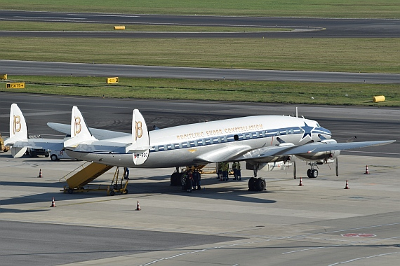 Beate Falkensteiner Breitling Super Constellation HB-RSC