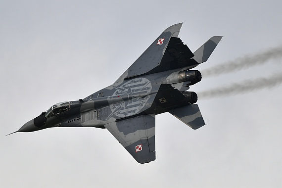 DSC_0742 Mig 29 Fulcrum polnische Luftwaffe Airpower 2016 Foto Huber Austrian Wings Media Crew