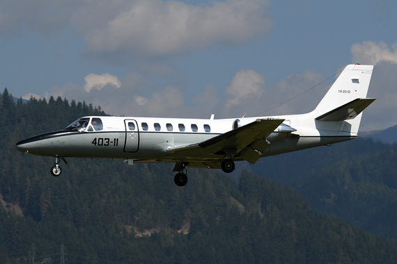 Spanische Luftwaffe Cessna 560 Citation - Foto Austrian Wings Media Crew