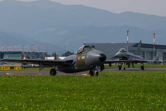 Swiss-Hunter-Team-De-Havilland-Vampire-Bundesheer-Eurofighter