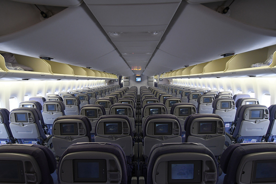 Blick in die Economy Class einer China Airlines Boeing 747-400 - Foto: Austrian Wings Media Crew