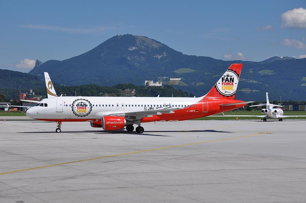 Flughafen Salzburg Das letzte Air Berlin Herz ging auf