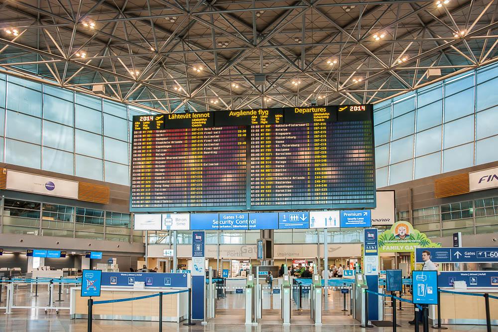 Helsinki Flughafen Ankunft