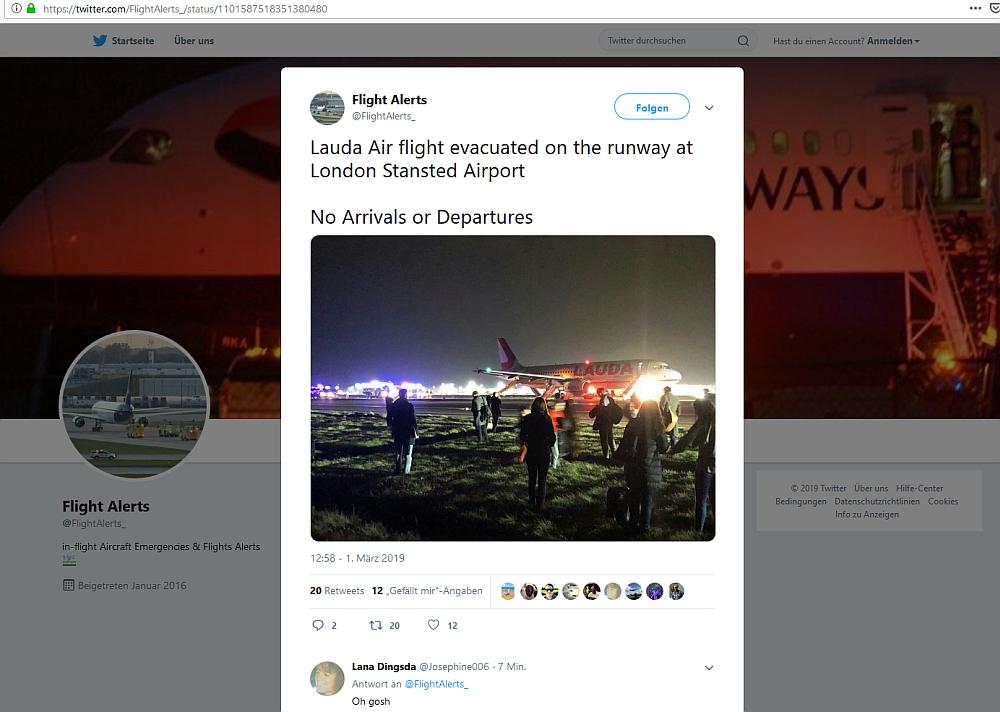 Lauda-Flugzeug muss Start abbrechen - mehrere Verletzte
