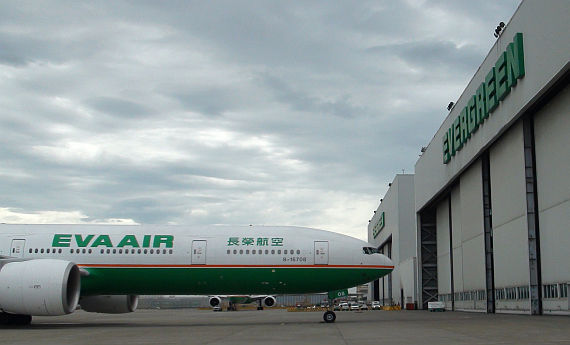 Boeing 777-300ER von Eva Air in Taipeh - Foto: Austrian Wings Media Crew