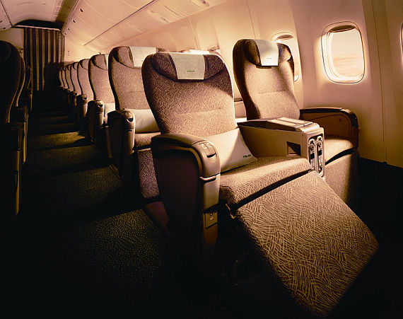 Sitzkomfort in der EVA AIR Elite Class - Foto: Korn-PR
