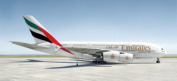 Emirates-Flaggschiff: Airbus A380 - Foto: Emirates