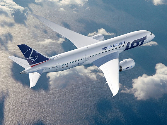 Neues Design ab kommendem Jahr: LOT-Dreamliner - Grafik: LOT