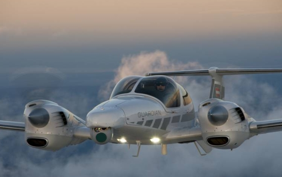 DA42 MPP Guardian im Flug - Foto: Diamond Aircraft