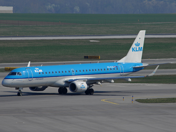 E-190 von KLM in Wien - Foto: Austrian Wings Media Crew