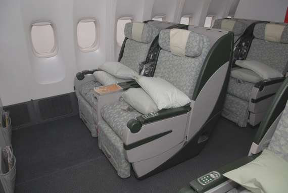 EVA AIR Premium Laurel Class an Bord einer Boeing 777 - Foto: Austrian Wings Media Crew