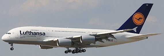 Airbus A380 der Lufthansa - Foto: Wikimedia Commons