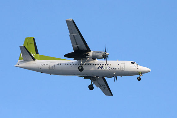 Geht in den Ruhestand: Fokker 50 von Air Baltic - Foto: Wikimedia Commons
