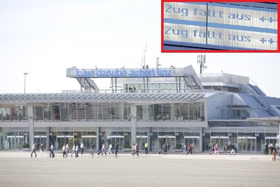 Flughafen Linz öffentlich nicht erreichbar