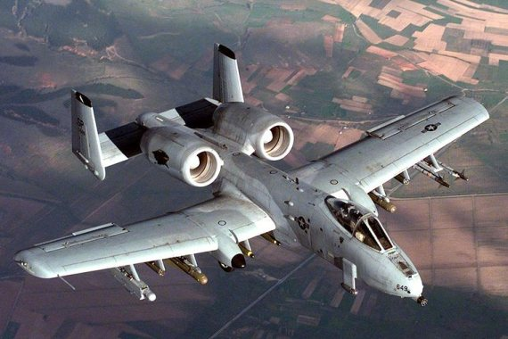 A10 Thunderbolt im Flug - Foto: Wiki Commons