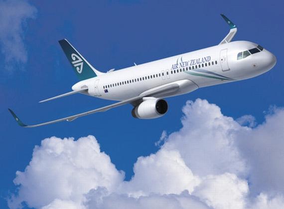 Ab 2012 wird Air New Zealand als erster Kunde A320 mit Sharklets übernehmen; unter Umständen werden diese Maschinen dann auch Handytelefonie und Internetzugang an Bord ermöglichen - Grafik: Airbus / Air New Zealand