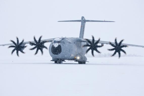 Grizzly 2 bei heftigem Schneetreiben in Kiruna - Foto: Airbus