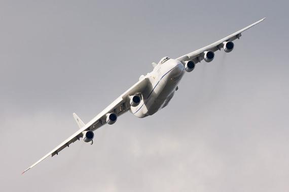 Die AN-225 im Flug - Foto: Dmitry A. Mottl / Wiki Commons