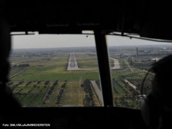 Anflug auf Tripolis - Foto: Bundesheer