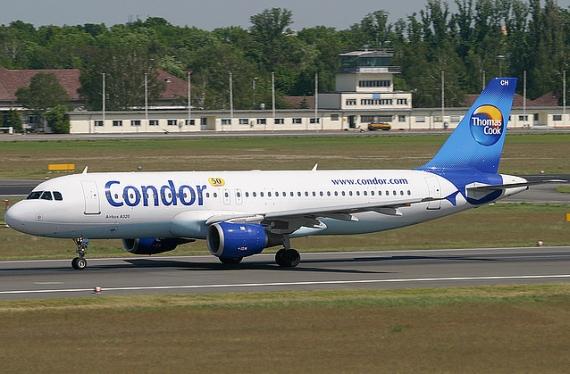 Airbus A320-200 der zu Thomas Cook gehörenden Condor - Foto: Condor