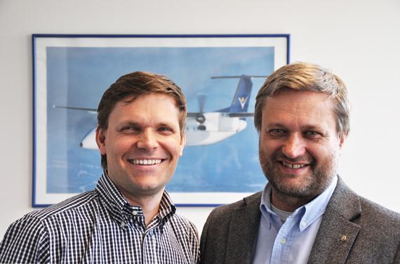 Andreas Geldner (rechts) wurde zum Geschäftsführer für Flugbetrieb und Technik ernannt - Foto: InterSky