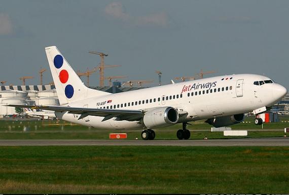 Boeing 737-300 der JAT beim Start - Foto: Konstantin von Wedelstädt
