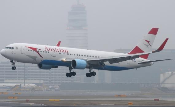 Die OE-LAW bei ihrer Landung in Wien mit Winglets - Foto: Chris Jilli