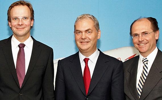 Andreas Bierwirth, Thierry Antinori und Peter Malanik – Foto: AUA