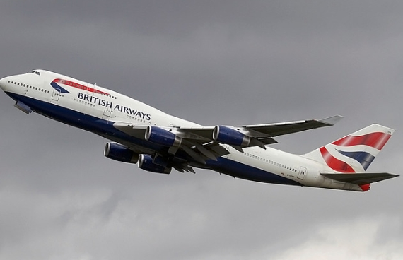 Boeing 747-400 von British Airways beim Start - Foto: Konstantin von Wedelstädt
