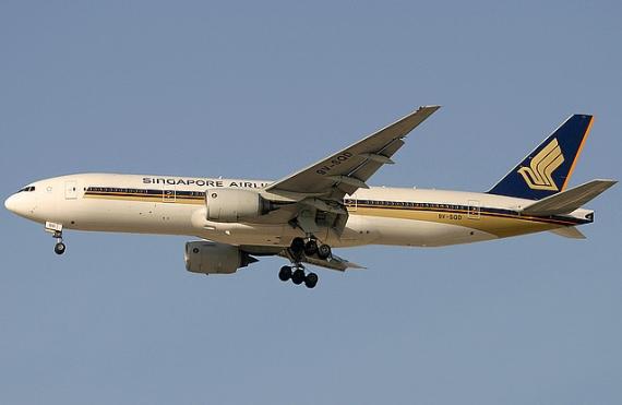 Boeing 777 von Singapore Airlines (Symbolbild) - Foto: Konstantin von Wedelstädt
