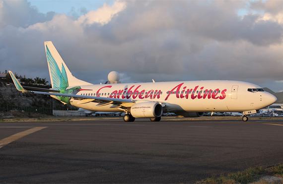 Eine Boeing 737-800 der Caribbean Airlines - Foto: Max Hrusa / Austrian Wings