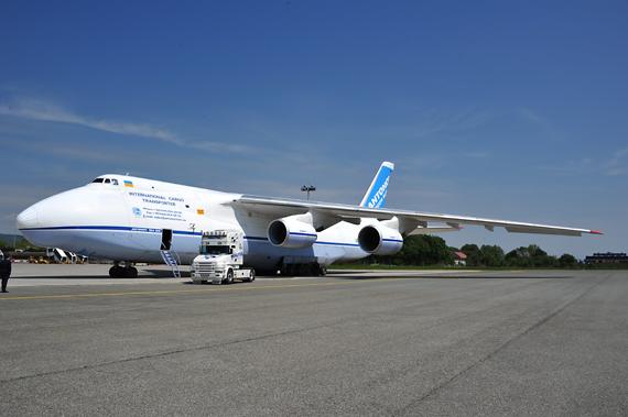 Trifft morgen wieder in Linz ein: Antonov AN 124 - Foto: Austrian Wings Media Crew