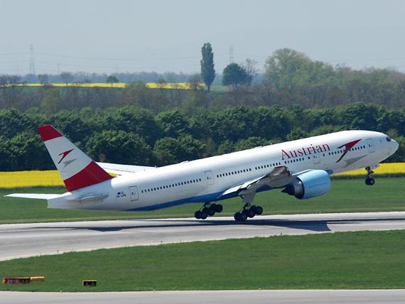 """Auch die AUA setzt auf die bewährte """"Triple Seven"""" - Foto: Austrian Wings Media Crew"""