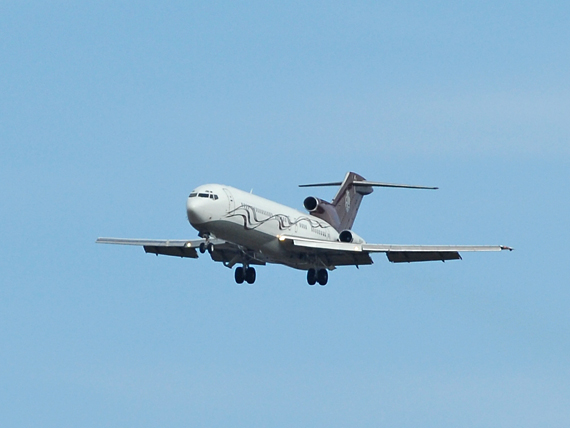 Eleganz pur: die Boeing 727 im Anflug auf die Piste 29 - Foto: P. Radosta / Austrian Wings
