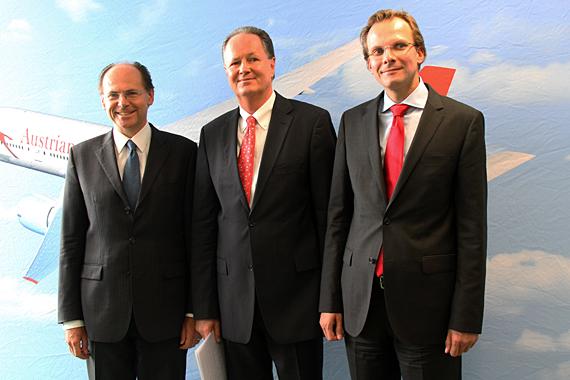 Muss nach Andreas Bierwirth (rechts) auch Peter Malanik (links) das AUA-Cockpit verlassen? - Foto: AUA