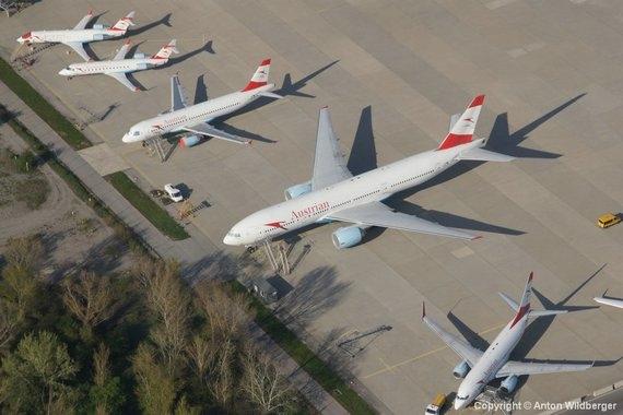 Auch Wien Schwechat wurde zum Flugzeugparkplatz - Foto: Anton Wildberger
